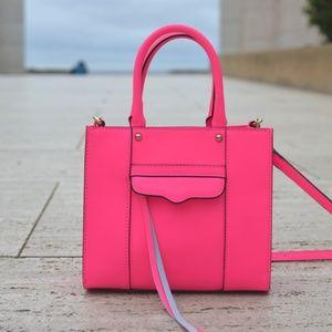 Rebecca Minkoff MAB Saffiano Mini Tote Bag Pink